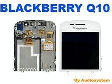 C PRO1: DISPLAY LCD +TOUCH SCREEN PER BLACKBERRY RIM Q10 +FLAT FLEX BIANCO NUOVO