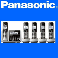 Panasonic KX-TG175 Cordless DECT 6.0 5 handset Phone System Link2Cell Bluetooth