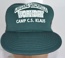 NOS Camp C.S. Klaus Hat Green Snapback Trucker Baseball Ball Cap Lid Boy Scouts