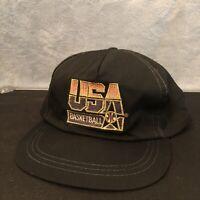 Vintage Dream Team USA Basketball 1992 McDonalds Snapback Hat Cap NBA Black