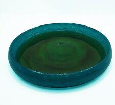 Ekenas shallow glass bowl John Orwar Lake/Bol 60s 70s vintage bol vert bleu