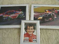 3 Framed unique Photos F1 Motor Car racing MAzda lemans 1991 Antonio felix Costo