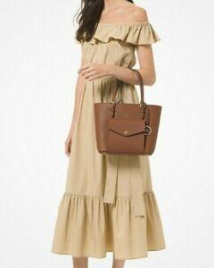 BNWT MICHAEL KORS Jet Set Leather Pocket Tote Handbag Shoulder Bag Luggage