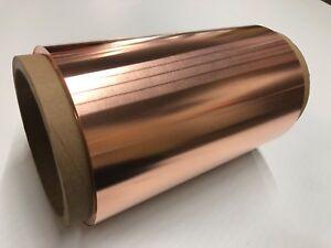 "Copper Sheet 10 mil / 30 gauge 12"" x 54' - 25 lbs"