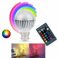 Remote Controlled 5W (40W) LED Colour Changing B22 Bayonet Fit Light Bulb Bulbs