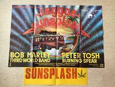 Reggae Sunsplash Affiche Cinéma 1979 Original Movie Poster Bob Marley