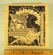 Rubber Stamp GREEK OR ROMAN God and Griffin Frame COLLAGE #4707 STAMP OUT CUTE