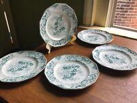 "Francis Morley Aurora Green Pearlware Transferware 9 1/4"" Plate Circa 1845 - 58"