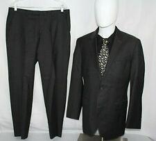 HUGO BOSS 42R Gray JAM75/SHARP3 Wool Single Vent 2B Suit + Pants 35 X 29