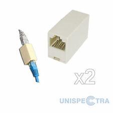 RJ45 Cat5e Cavo di rete Ethernet LAN Accoppiatore Joiner x 2