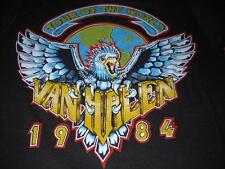 Van Halen Vtg.1984 Tour Of The World Japan Eagle Concert Black T-Shirt Large-New