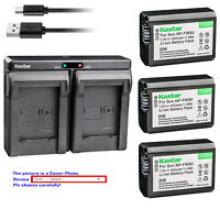 Kastar Battery Slim Dual Charger for Sony NP-FW50 BC-VW1 & ILCE-5100 Alpha a5100