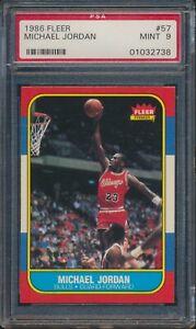 1986 Fleer Michael Jordan Rookie RC Chicago Bulls #57 PSA 9 MINT