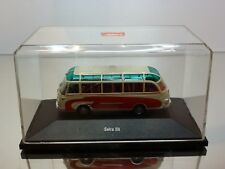 SCHUCO SETRA S6 AUTOBUS COACH - RED + CREAM 1:87 - GOOD CONDITION IN BOX