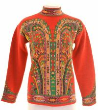 KENZO Womens Jumper Sweater Size 12 Medium Multicoloured Wool  KA08