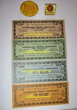 Crossville, Tennessee, Cumberland County, 1956 Centennial Currency, Notes + Pins
