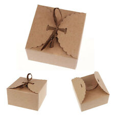 12x Cute Kraft Paper Pillow favor Box Wedding Party Favour Gift Candy Boxes