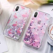 Fashion Pink Flamingo Quickstand Glitter Stars Soft Phone Case for iPhone7/8Plus