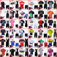 2020 Mens Cycling Jersey Bike Shirt Bib Shorts Set Bicycle Short Sleeve Outfits