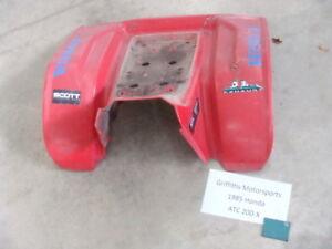 85 84 83 Honda atc 200X 1985 rear back fender fenders mud red plastic rough