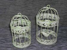 g Antik Deko Vogelkäfig aus Metall Pflanzkäfig Blumenkäfig Käfig rustikalbraun