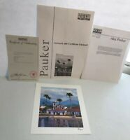Alex Pauker *Reflections* 2002 Signed Seriolithograph with Certificate CoA