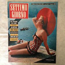 RIVISTA SETTIMO GIORNO 27 7/1954 LOLLOBRIGIDA MARILYN MONROE CINEMA ITALIANO