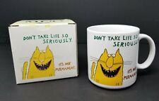 Vtg 1989 Funny Cat Mug 'Don't Take Life So Seriously' Coffee Mug Oz