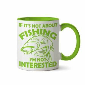 Men's Carp Fishing Gifts Angling Funny Ceramic Coffee Mug Cup Novelty Gift Ideas