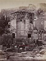 Grecia Il Tempio Di Zeus Atene Foto Albume D'Uovo 9,5x12,5cm Ca 1880