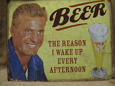 Beer the Reason Tin Metal Sign Decor FUNNY HUMOROUS Alcohol NEW