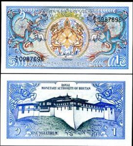 Bhutan 1 ngultrum 1985 - 1992 p 12 unc
