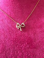 Gold and Rhinestone BOW Necklace Fashion Jewelry New Women's