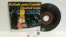 45T Générique Les Misérables Chantal Goya FR3 Ballade pour Cosette RCA Debout