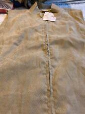 Misses Golf Vest Golf Clothing.  Gold Size L