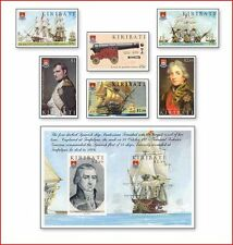 KIR108 Naval battle of Trafalgar 6 stamps and block MNH KIRIBATI