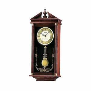 Seiko Clocks  Dark Wooden Westminster Chime Pendulum Wall Clock QXH107B