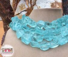 Turquoise AQUA QUARTZ HUGE ROUGH LIGHT BLUE FROSTED STONE XL STATEMENT NECKLACE