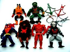 6 Vintage He-Man Motu With Accessories Masters Of the Universe LOOK!!!!!