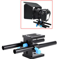 Rail Rod Support System Baseplate Stand for Matte Box DSLR Follow Focus GW 15mm