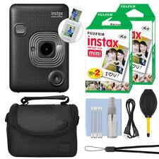 Cámara instantánea Fujifilm Instax Mini liplay GRIS OSCURO + Kit de accesorios de 40 comprimidos
