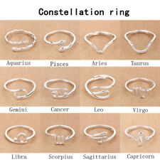 Genuine 925 Sterling Silver Adjustable Thumb/Index/Mid Ring Finger Constellation