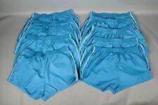 Vtg Men's Lot of 10 70s 80s Nos Blue Athletic Short Shorts W Stripe L 50s #7266L