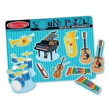 Melissa & Doug Musical Instruments Sound Puzzle 8pce