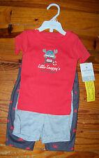 New! Boys CARTER'S 2pc Orange & Gray Cotton Snappy Crab Beach Pajamas 12 Months