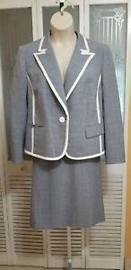 Evan-Picone Ladies Blue & White Skirt Suit - Size 16W