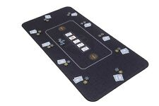 The Broadway Poker Mat in black by Riverboat Gaming - 180x90cm (Poker table top)