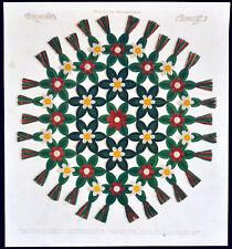 Design pour têtière 1871 jeunes femmes JOURNAL antique design