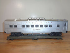 "LIONEL O GAUGE # 2432 ""CLIFTON"" LIGHTED DOME CAR"