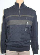 *NEW Nautica Coastal Isles Navy 1/4 Zip Cotton Sweater M Medium $69.50